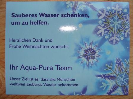 Geschenkkarte für Wasser-Geschenk