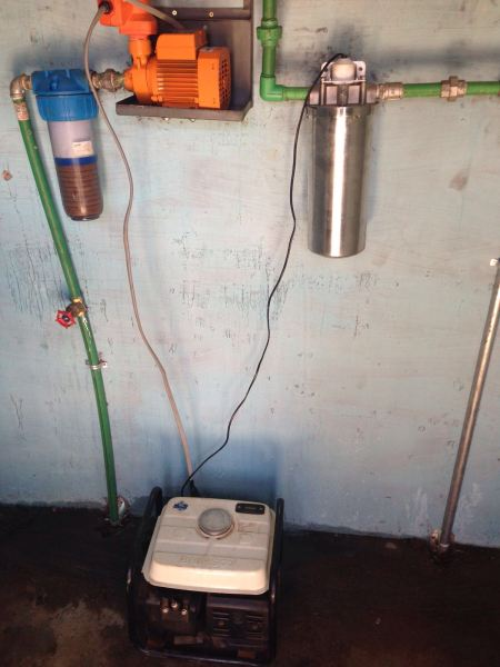 aqua pura filters and pump with generator to test systemjpg